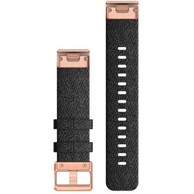 Garmin QuickFit Correa Reloj de Nylon 20mm para Fenix 6S, negro/Dorado